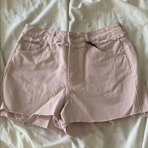 NWT topshop pink mom shorts denim size US 4